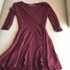 Urban outfitters kimchi blue maroon dress